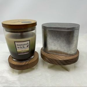 1 New nature wick candle and 1 used bonus candle